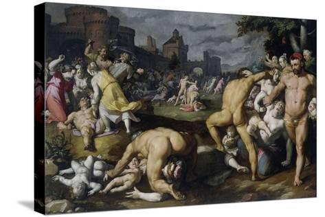 The Massacre of the Innocents, 1590-Cornelis Cornelisz^ van Haarlem-Stretched Canvas Print