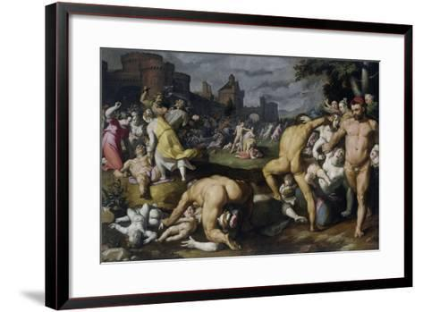 The Massacre of the Innocents, 1590-Cornelis Cornelisz^ van Haarlem-Framed Art Print