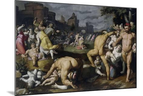 The Massacre of the Innocents, 1590-Cornelis Cornelisz^ van Haarlem-Mounted Giclee Print