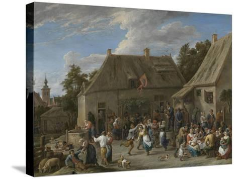 Peasant Kermis, C.1665-David the Younger Teniers-Stretched Canvas Print