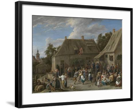 Peasant Kermis, C.1665-David the Younger Teniers-Framed Art Print