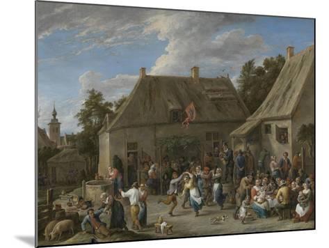 Peasant Kermis, C.1665-David the Younger Teniers-Mounted Giclee Print