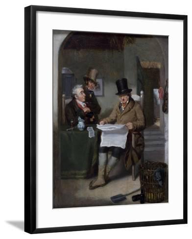 Reading the News-David Wilkie-Framed Art Print