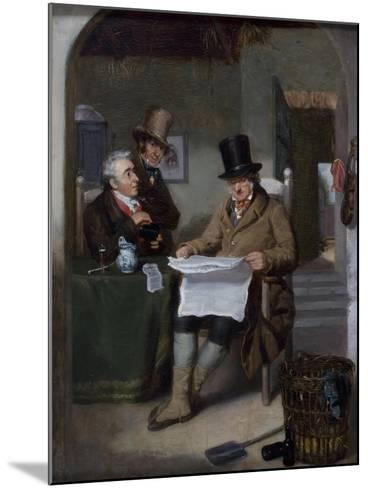 Reading the News-David Wilkie-Mounted Giclee Print