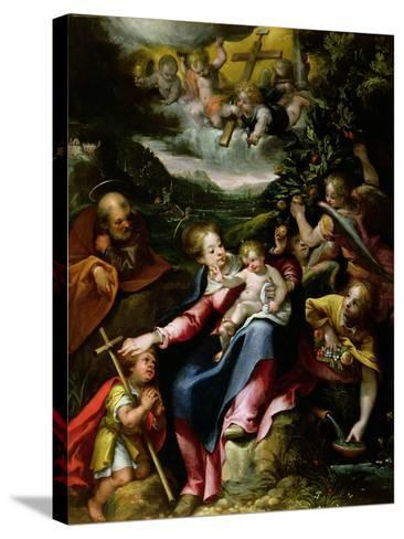 Ng 2447 Holy Family with St. John the Baptist in a Landscape, C.1593-94-Denys Calvaert-Stretched Canvas Print