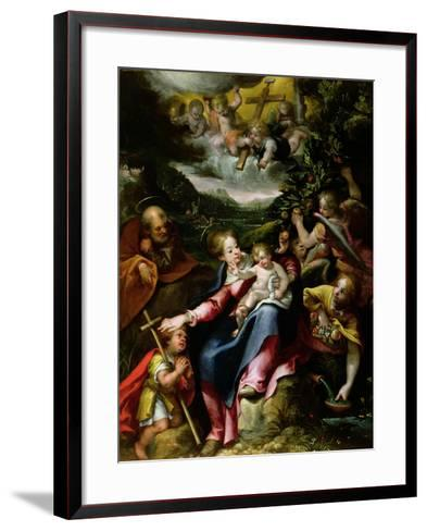 Ng 2447 Holy Family with St. John the Baptist in a Landscape, C.1593-94-Denys Calvaert-Framed Art Print