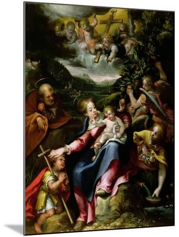 Ng 2447 Holy Family with St. John the Baptist in a Landscape, C.1593-94-Denys Calvaert-Mounted Giclee Print