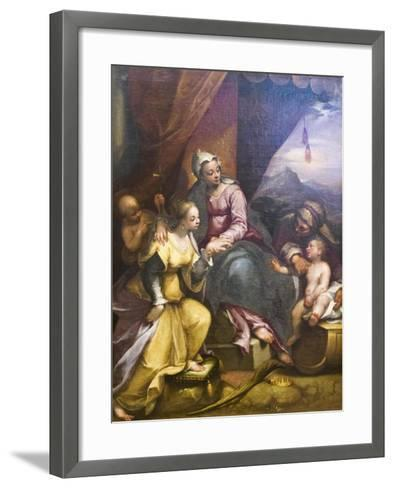 The Mystical Marriage of St Catherine, 1590-Denys Calvaert-Framed Art Print