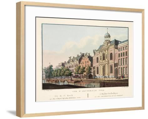 Vue D'Amsterdam No.29. De R.C. Kerk Op Den Cingel Bij Den Heiligen Weg. L'Eglise Catholique La Foi-Cornelis de Kruyff-Framed Art Print