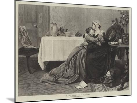 At Last, Mother!-David Wilkie Wynfield-Mounted Giclee Print