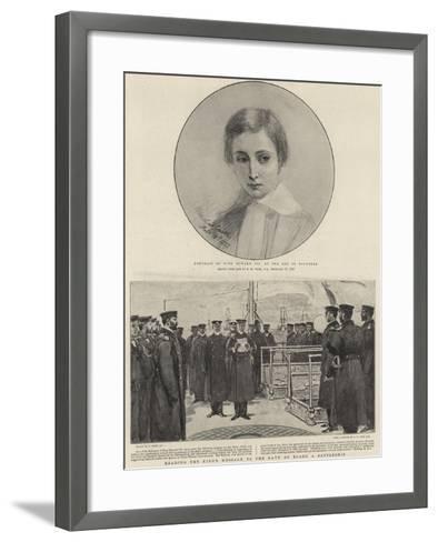 Portrait of King Edward VII at the Age of Fourteen-Edgar Melville Ward-Framed Art Print