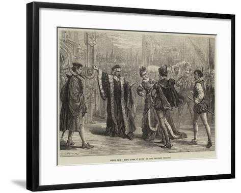 Scene from Mary, Queen of Scots, at the Princess's Theatre-David Henry Friston-Framed Art Print