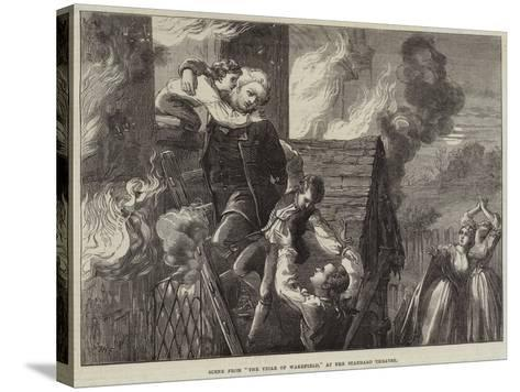 Scene from The Vicar of Wakefield, at the Standard Theatre-David Henry Friston-Stretched Canvas Print