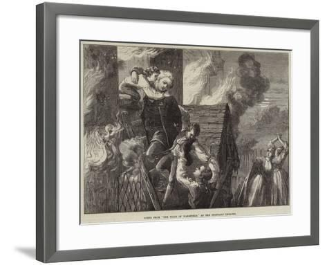 Scene from The Vicar of Wakefield, at the Standard Theatre-David Henry Friston-Framed Art Print