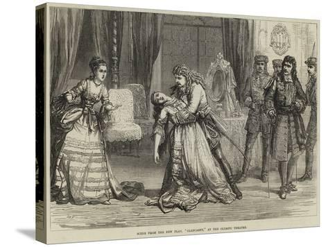 Scene from the New Play, Clancarty, at the Olympic Theatre-David Henry Friston-Stretched Canvas Print
