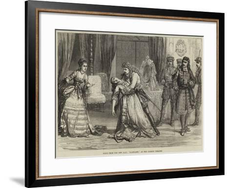 Scene from the New Play, Clancarty, at the Olympic Theatre-David Henry Friston-Framed Art Print