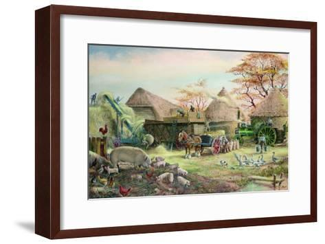 Threshing in Kent-Dudley Pout-Framed Art Print
