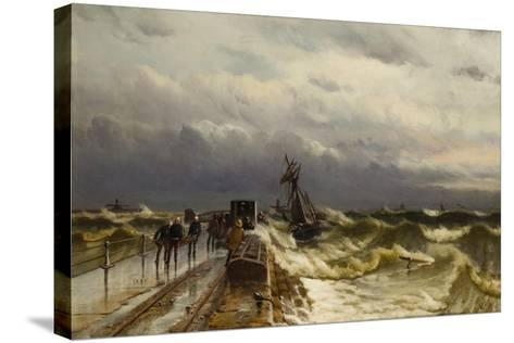 Wreck of the Barque 'Jacob Rothenberg', 28 November 1878, 1887-Duncan F. McLea-Stretched Canvas Print