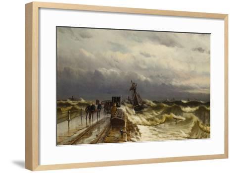 Wreck of the Barque 'Jacob Rothenberg', 28 November 1878, 1887-Duncan F. McLea-Framed Art Print