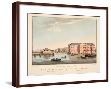 Vue D'Amsterdam No.5. Het Koninglijk Magazijn Der Marine. Vue De L'Amirautè, 1825-Cornelis de Kruyff-Framed Art Print