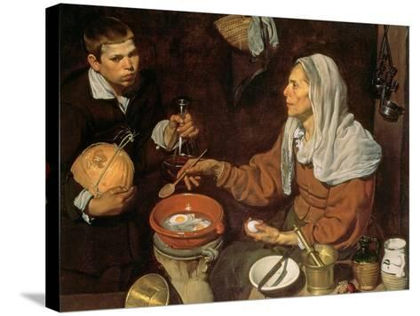 An Old Woman Cooking Eggs, 1618-Diego Velazquez-Stretched Canvas Print