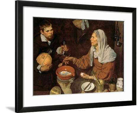 An Old Woman Cooking Eggs, 1618-Diego Velazquez-Framed Art Print