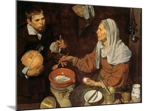 An Old Woman Cooking Eggs, 1618-Diego Velazquez-Mounted Giclee Print