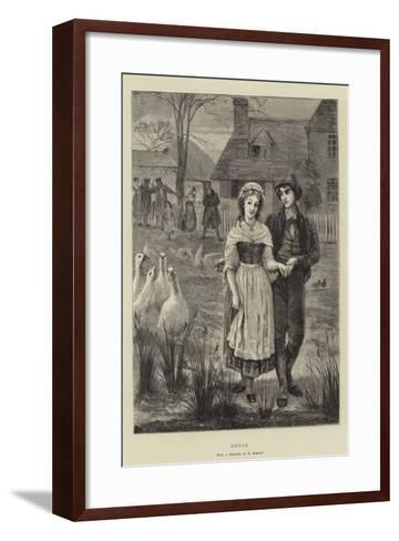 Geese-Edgar Barclay-Framed Art Print