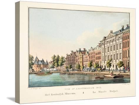 Vue D'Amsterdam No.11, Het Koninglyk Museum, Le Musée Roijal, 1825-Cornelis de Kruyff-Stretched Canvas Print