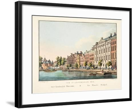 Vue D'Amsterdam No.11, Het Koninglyk Museum, Le Musée Roijal, 1825-Cornelis de Kruyff-Framed Art Print