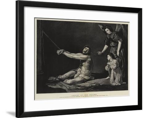 Christ at the Column-Diego Velazquez-Framed Art Print