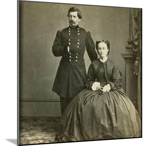 Major General George B. Mcclellan and His Wife- E. & H.T. Anthony-Mounted Photographic Print