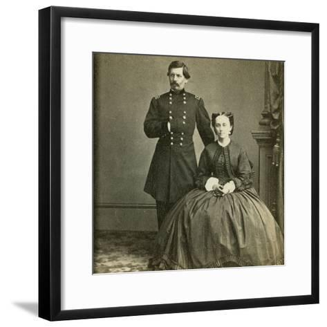 Major General George B. Mcclellan and His Wife- E. & H.T. Anthony-Framed Art Print