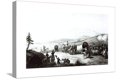 Arrival of the Caravan at Sante Fe, Engraved by A. L. Dick-E. Didier-Stretched Canvas Print
