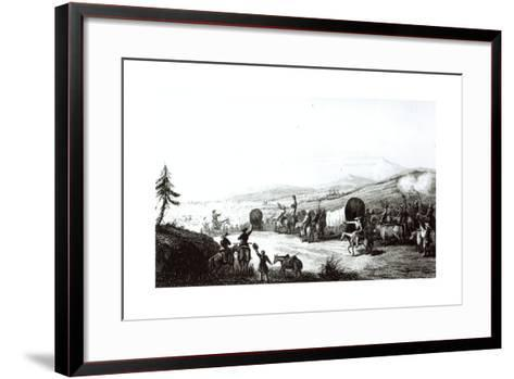 Arrival of the Caravan at Sante Fe, Engraved by A. L. Dick-E. Didier-Framed Art Print