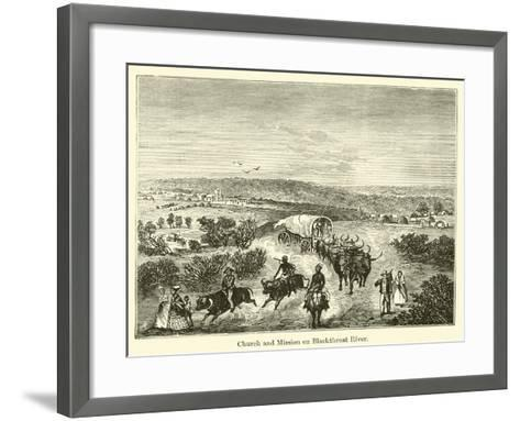 Church and Mission on Blackthroat River-E. Jennings-Framed Art Print