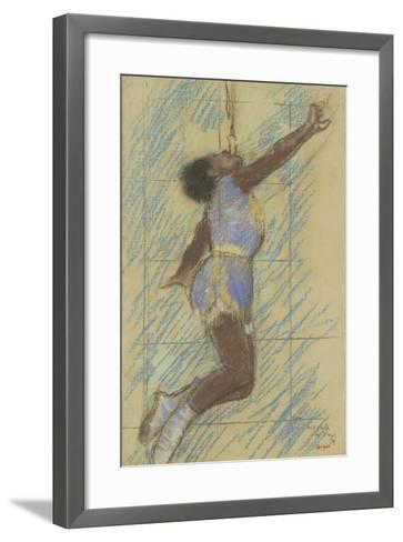 Miss Lala at the Fernando Circus, 1879-Edgar Degas-Framed Art Print