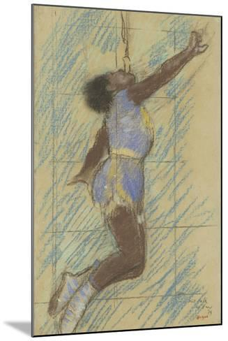 Miss Lala at the Fernando Circus, 1879-Edgar Degas-Mounted Giclee Print