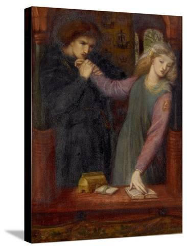 Hamlet and Ophelia, 1866-Dante Gabriel Charles Rossetti-Stretched Canvas Print