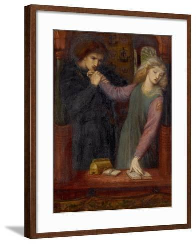 Hamlet and Ophelia, 1866-Dante Gabriel Charles Rossetti-Framed Art Print