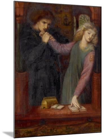 Hamlet and Ophelia, 1866-Dante Gabriel Charles Rossetti-Mounted Giclee Print