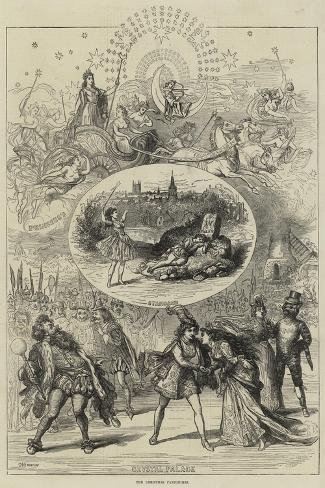 The Christmas Pantomimes-David Henry Friston-Stretched Canvas Print