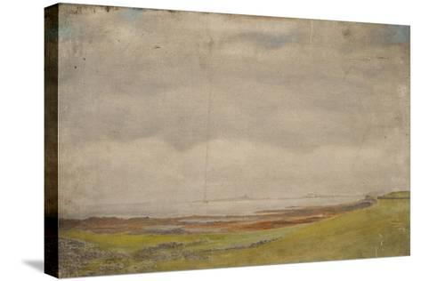 Holy Island-Daniel Oliver-Stretched Canvas Print