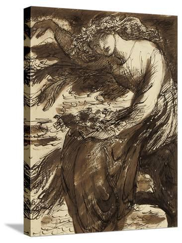Ophelia-Dante Gabriel Charles Rossetti-Stretched Canvas Print