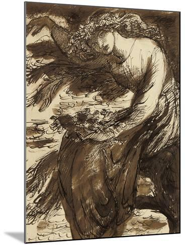 Ophelia-Dante Gabriel Charles Rossetti-Mounted Giclee Print