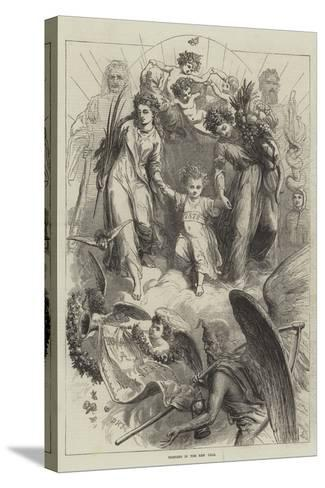 Bringing in the New Year-David Henry Friston-Stretched Canvas Print