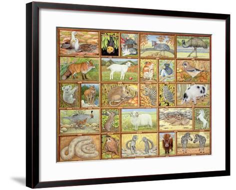 Alphabetical Animals-Ditz-Framed Art Print