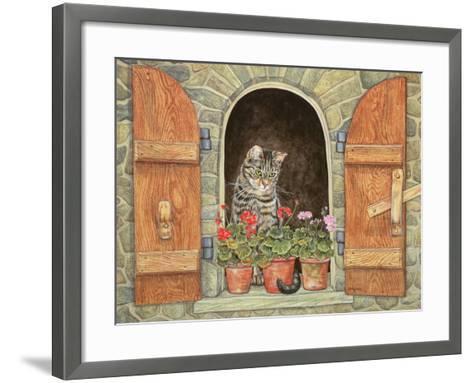 Susie's Window-Ditz-Framed Art Print