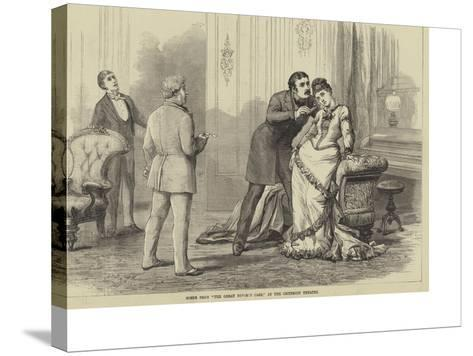 Scene from The Great Divorce Case, at the Criterion Theatre-David Henry Friston-Stretched Canvas Print