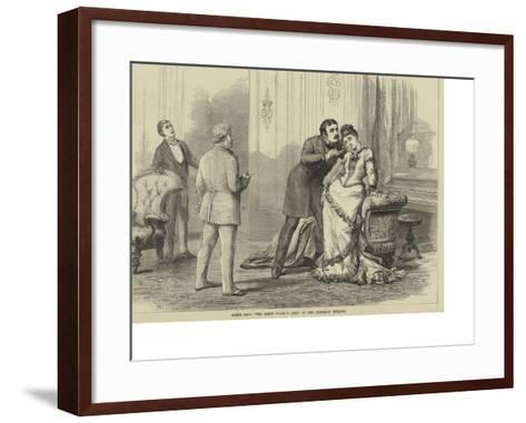 Scene from The Great Divorce Case, at the Criterion Theatre-David Henry Friston-Framed Art Print